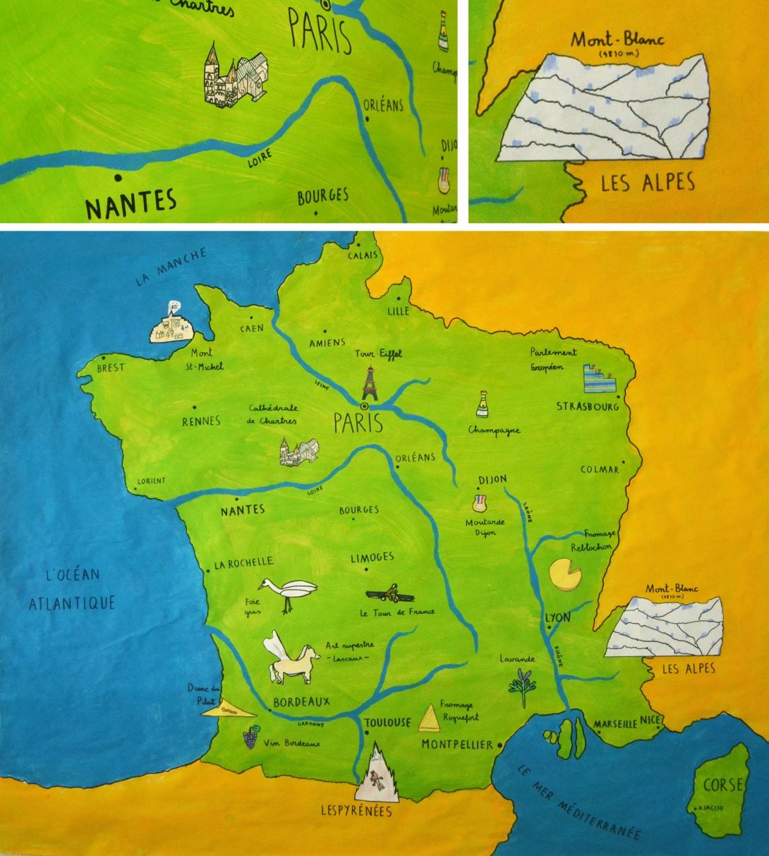 Um Mapa Ilustrado Da Franca